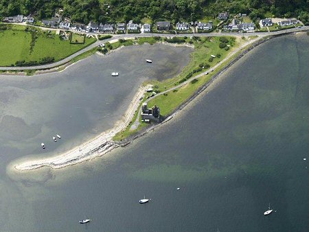 Aerial view of Lochranza