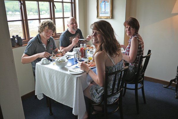 Guests enjoying breakfast at Castlekirk