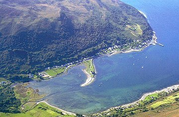 Loch Ranza from the air
