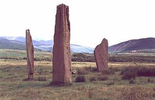 The stones of Circle 2 stand almost 5m high